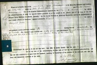 Deed by Married Women - Elizabeth Tann-Original Ancestry