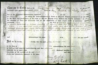 Deed by Married Women - Mary Morewood Colledge-Original Ancestry