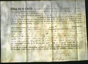 Deed by Married Women - Sarah Lewis-Original Ancestry