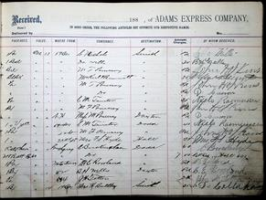 Adams Express Company Ledger 8