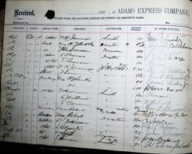 Adams Express Company Ledger 11