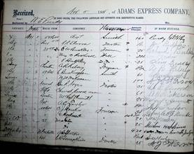 Adams Express Company Ledger 17