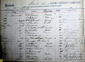 Adams Express Company Ledger 21