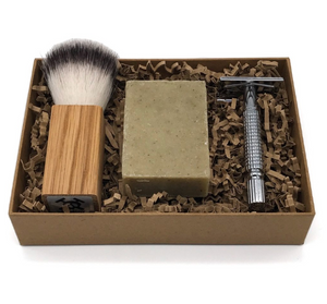 Mutiny Shaving Kit (Chrome) - Peppermint & Nettle