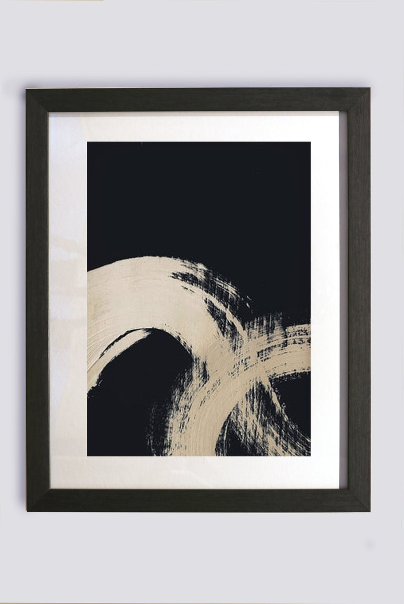 Smoke Brushstroke II, Contemporary Framed Print