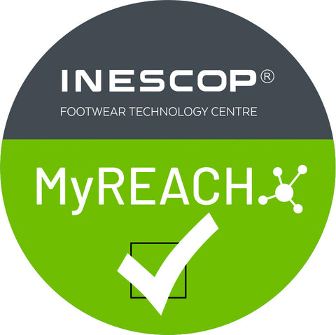 "INESCOP ""MyREACH"" It certifies that a control of restricted substances for footwear has been carried out in accordance with Annex XVII of the REACH Regulation and that they do not contain substances harmful to health and the environment."