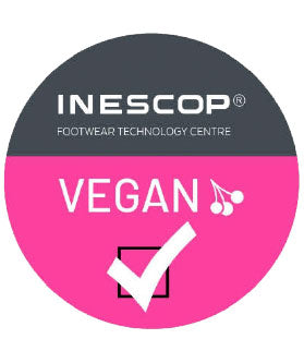 "INESCOP ""Vegan"" The models with this distinctive do not contain materials or fibers of animal origin."