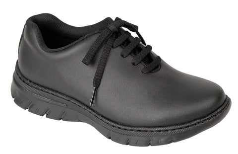 unisex sliip on black shoes with non slip sole fo rdoctors, nurses, dentists, veterinary, waiters, waitresses