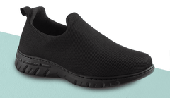 CANDY BLACK SLIP ON WATERPROOF MESH UNISEX SHOES WITH NON SLIP SOLE
