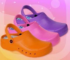 Dian Eva Clogs in Pink, Purple, orange, light weight clogs, non slip shoes, comfortable shoes