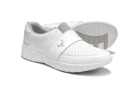 EDDA White Velcro Fastened Nursing Shoe
