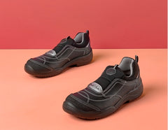 Flexile slip on safety shoe with non-metallic toe protection