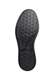 Viena unisex black slip on shoe with non slip sole