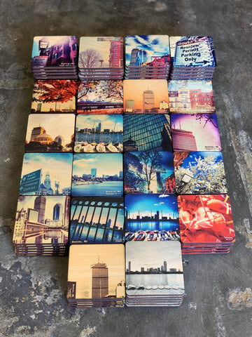 Custom Wooden Coasters Boston Simply Grateful