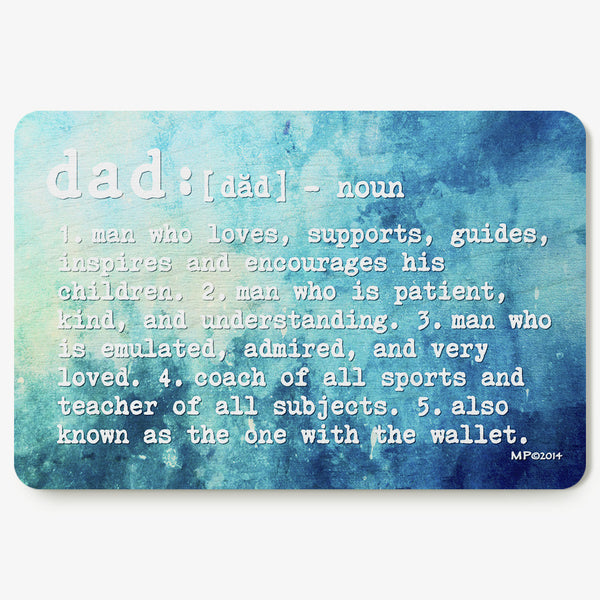 Dad ~ Definition Postcard