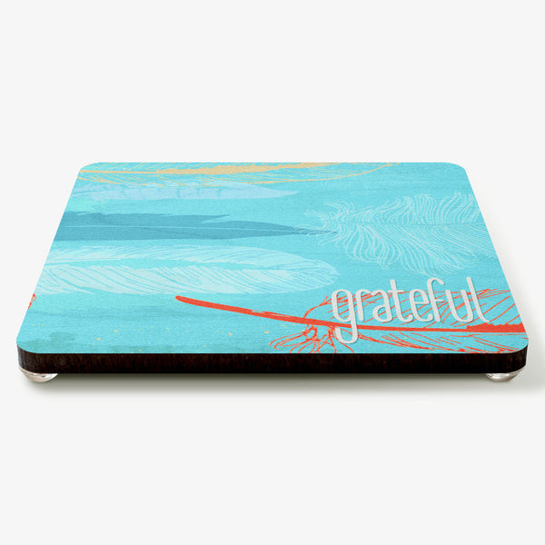 Grateful ~ Feathers Coaster