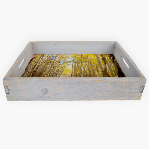 Golden Light Serving Tray