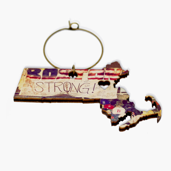 B Strong Wine Charm