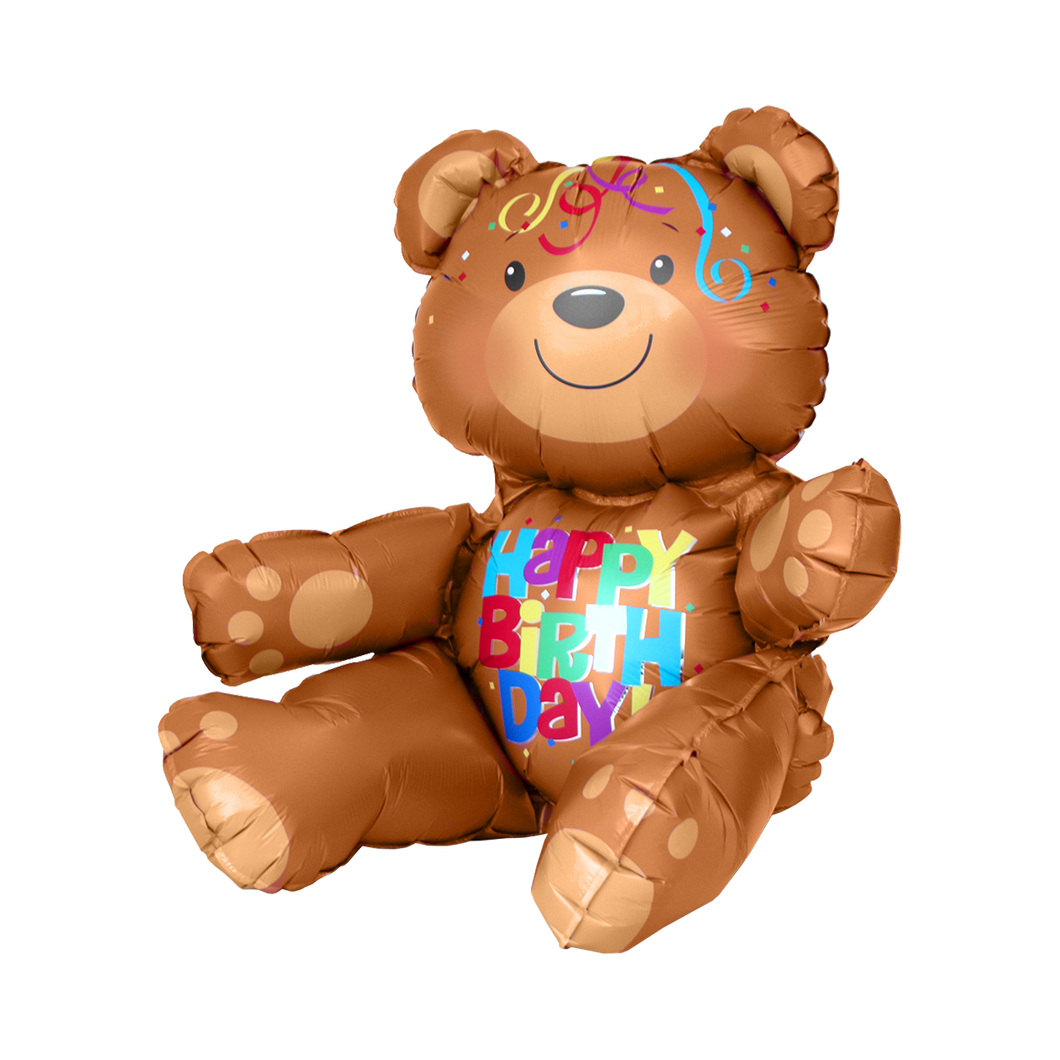 Vorschau: 1 Sitting Ballon - Happy Birthday Bear