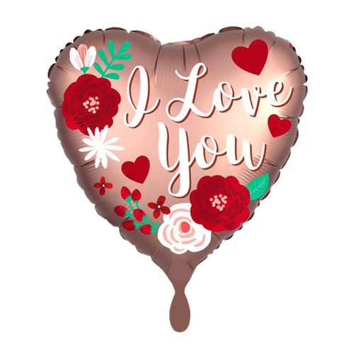 Vorschau: 1 Ballon - Satin Rose Copper Love