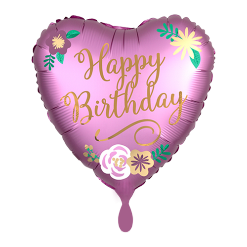 Vorschau: 1 Ballon - Birthday Satin Flowers