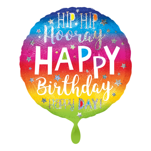 Vorschau: 1 Ballon - Hip Hip Hooray Birthday