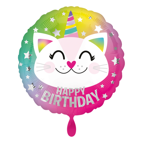 Vorschau: 1 Ballon - Birthday Caticorn