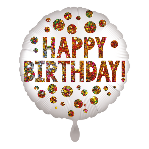 Vorschau: 1 Ballon - Satin infused Birthday Sequins