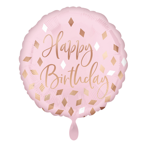 Vorschau: 1 Ballon - Rose Gold Blush Birthday