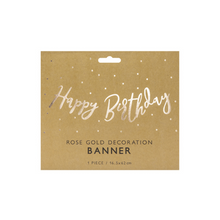 Lade das Bild in den Galerie-Viewer, Vorschau: 1 Bannergirlande - Happy Birthday - Rosegold