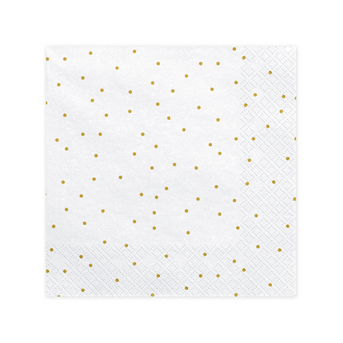 Vorschau: 20 Servietten Trend - 33cm - White with Dots