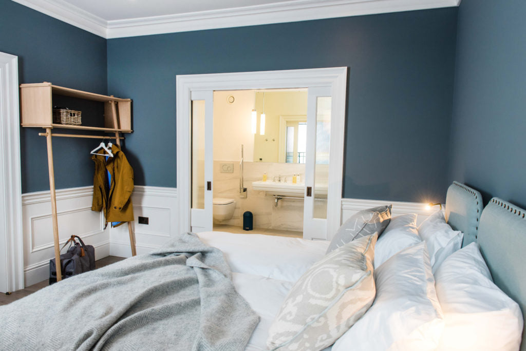 The accessible en suite room at One Shore Street
