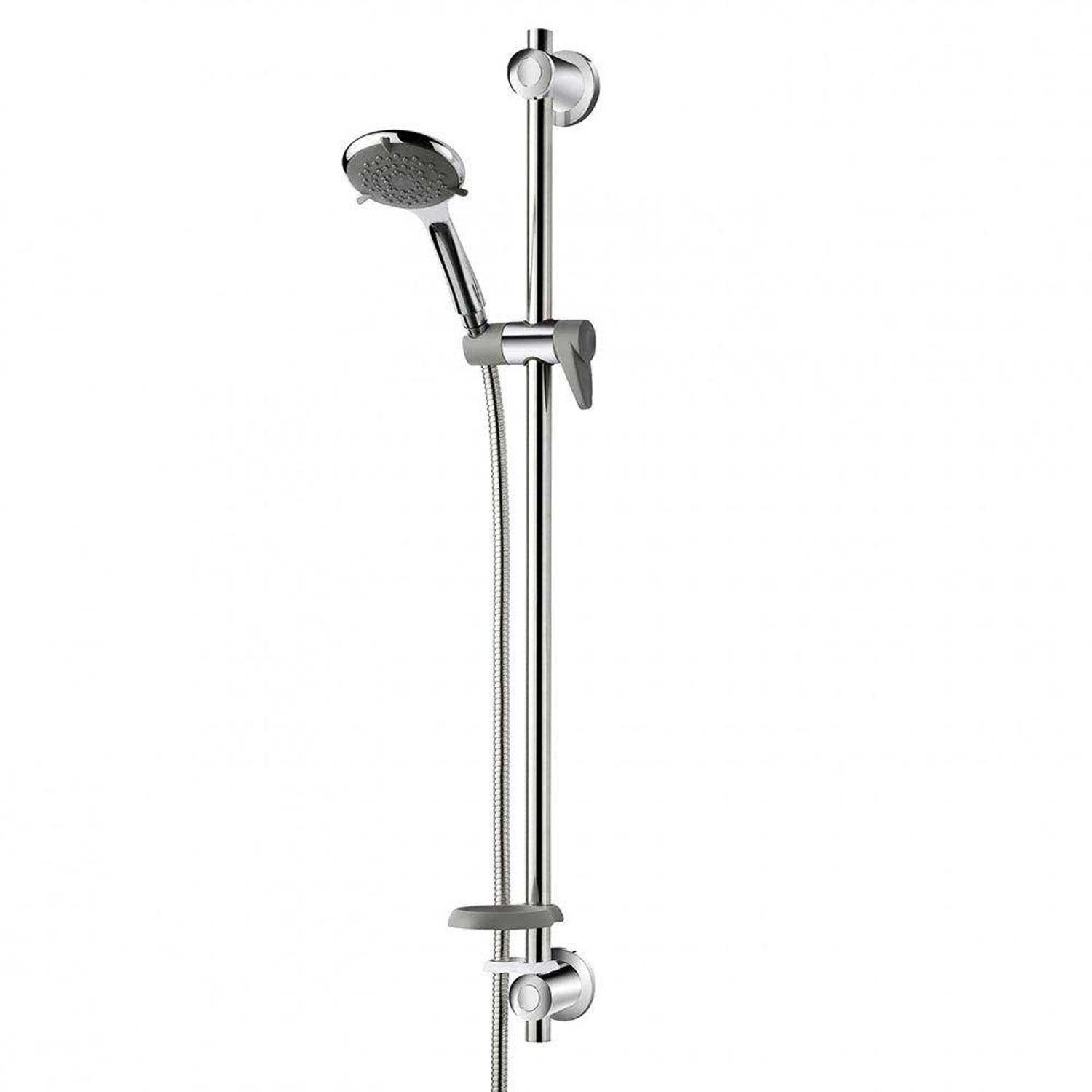 940mm Modale Supportive Shower Rail Kit with a chrome finish on a white background