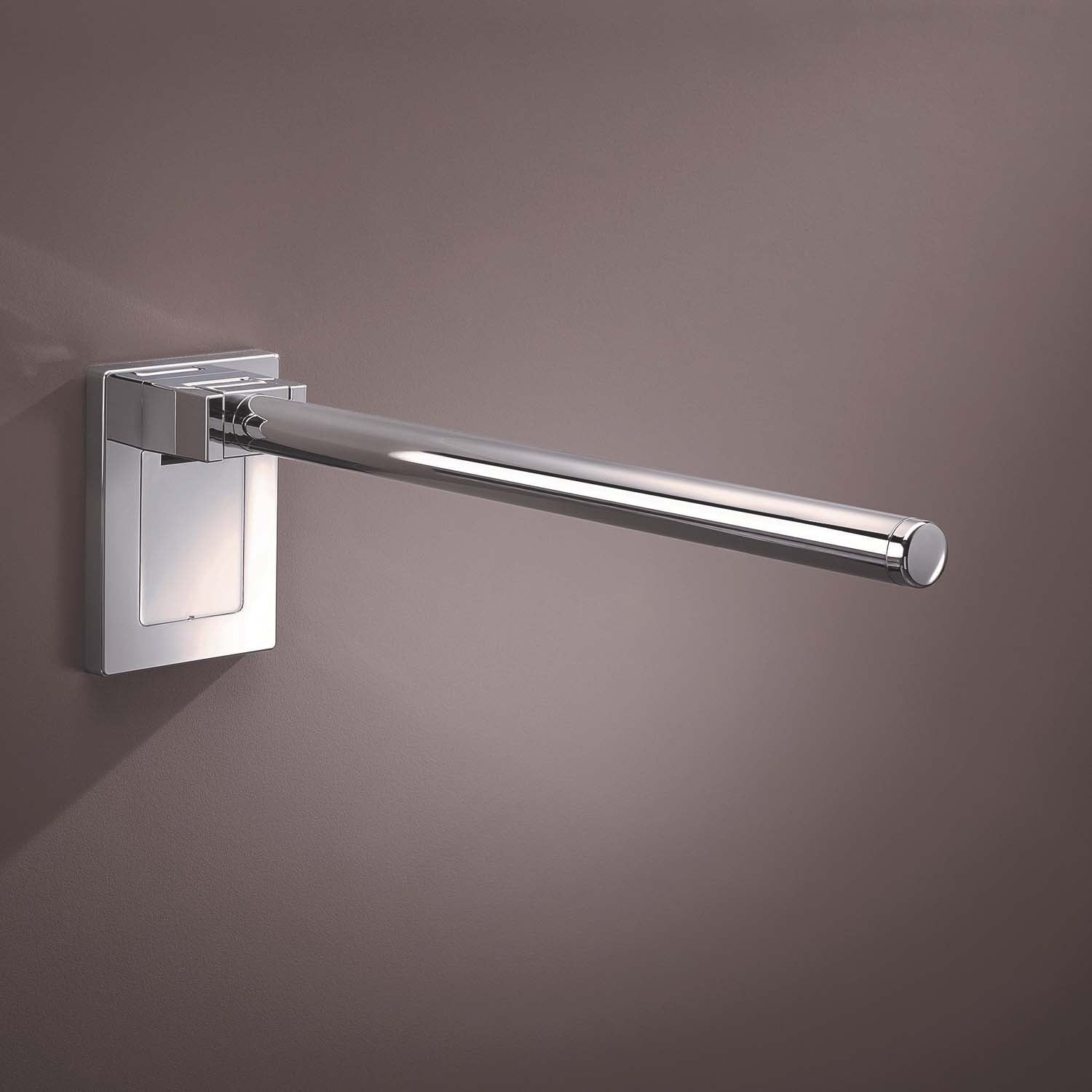 850mm Circula Hinged Grab Rail with a chrome-look finish lifestyle image