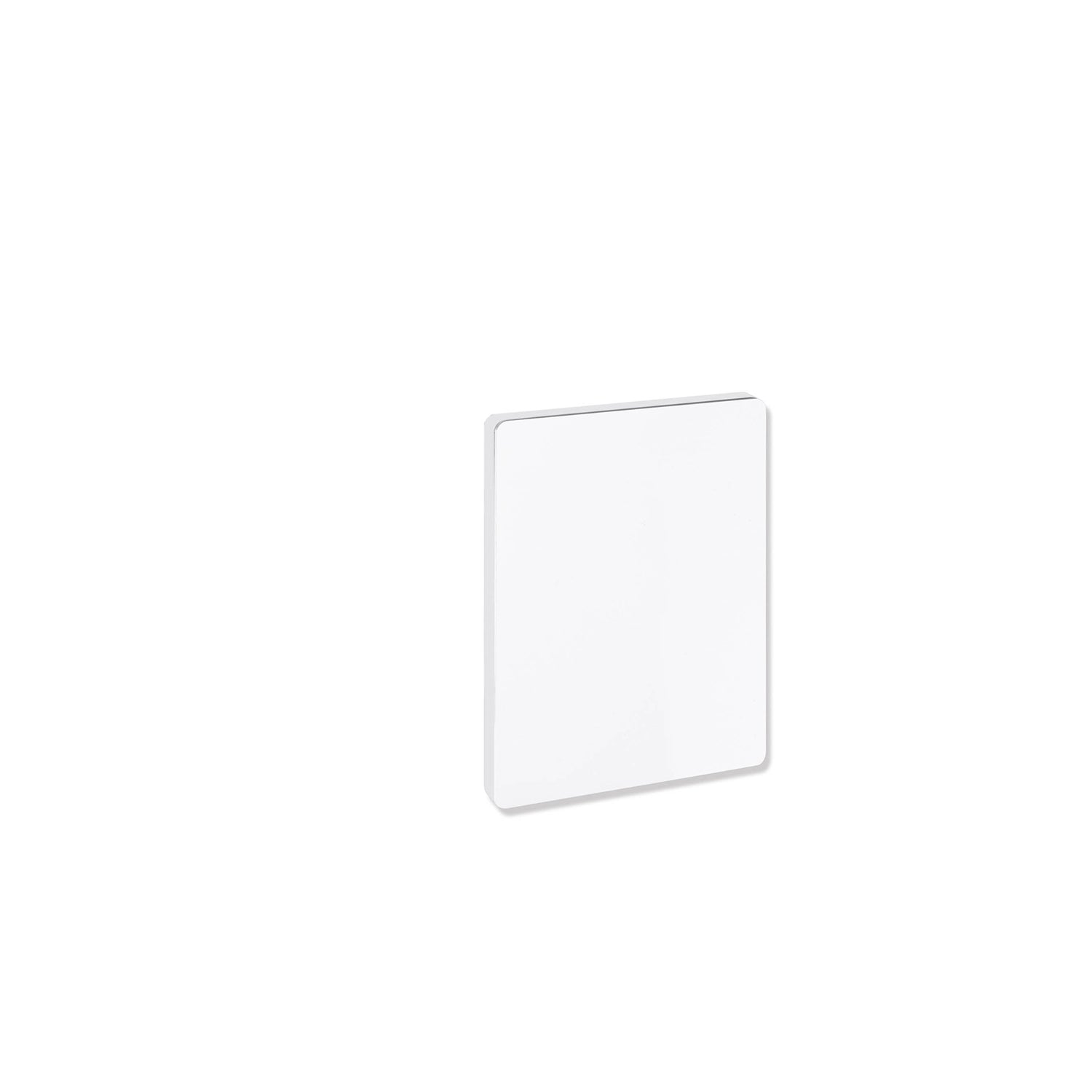 Circula Removable Hinged Grab Rail Cover with a white finish on a white background