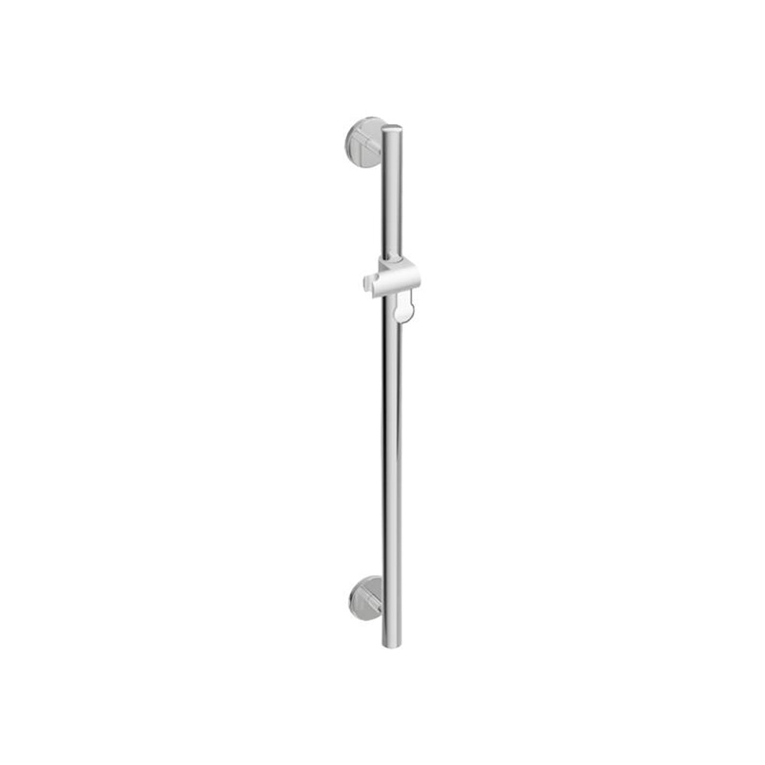 1100mm Circula Supportive Shower Rail with a chrome finish on a white background