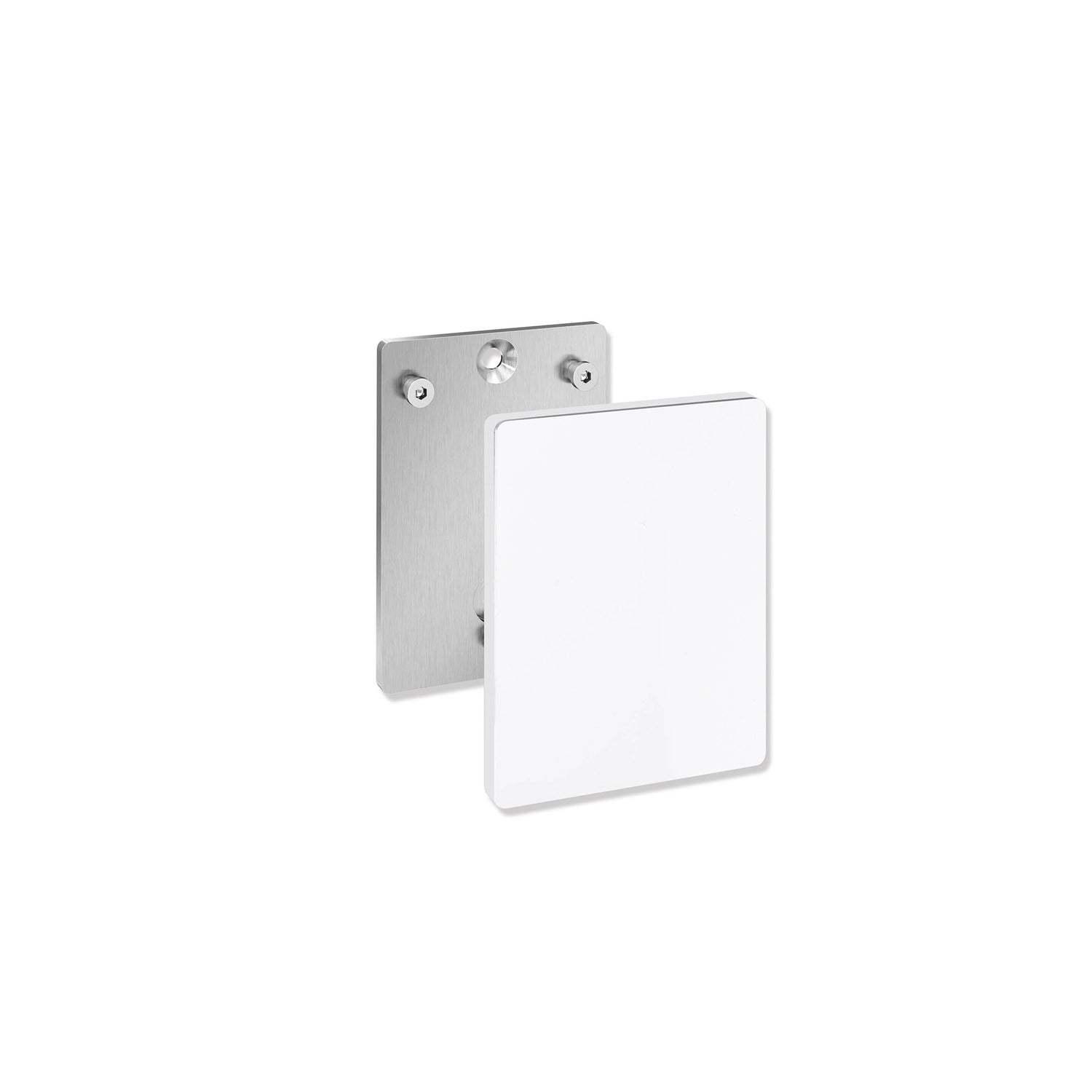 Circula Removable Hinged Grab Rail Mounting Plate and Cover with a white finish on a white background