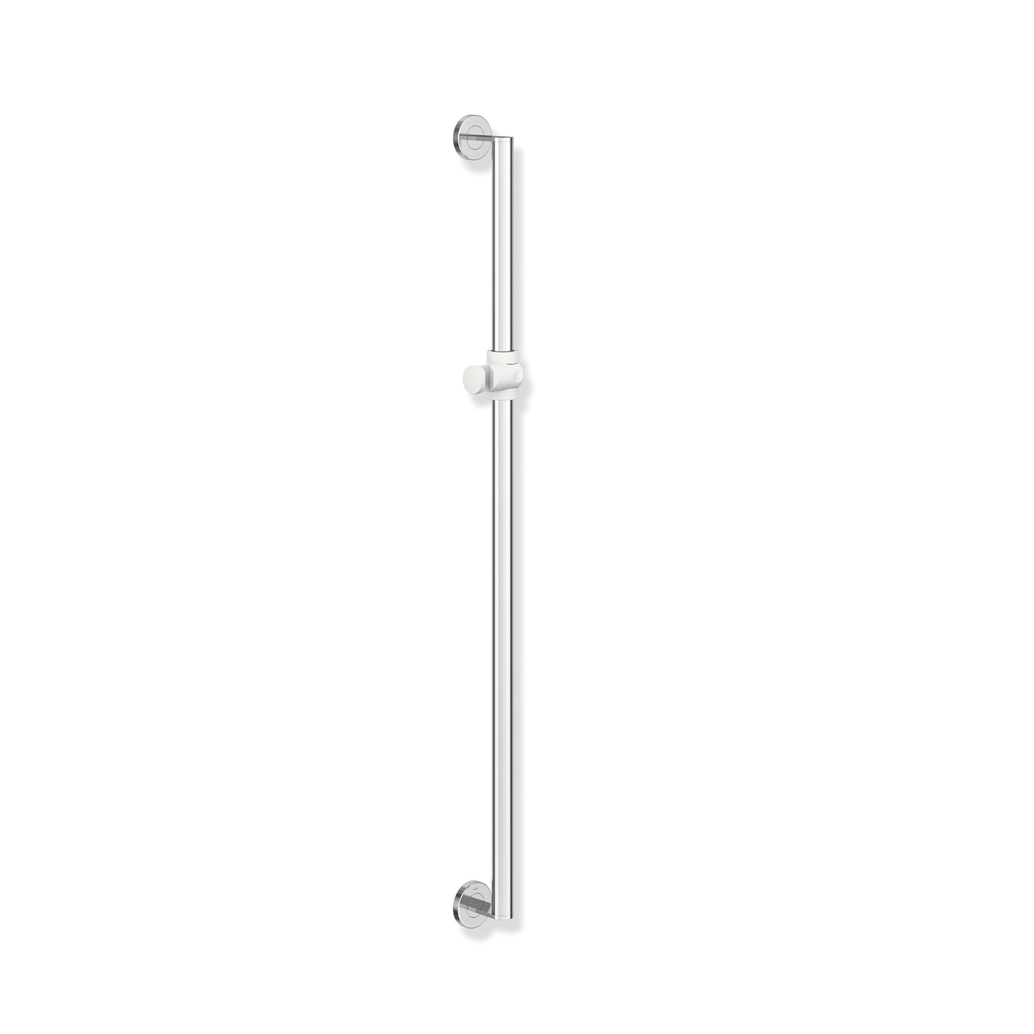 1100mm Freestyle Supportive Shower Rail with a chrome finish on a white background