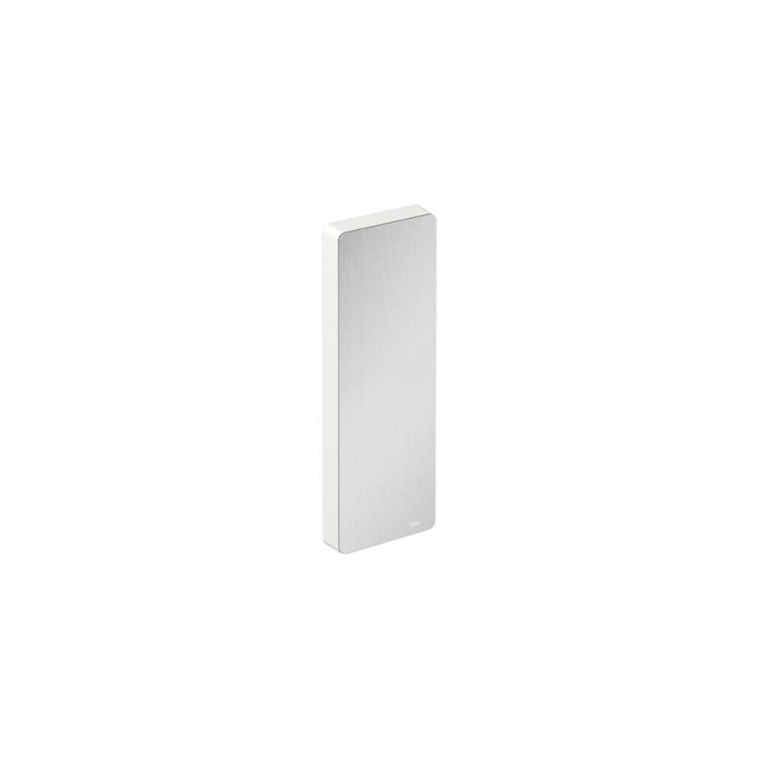 Freestyle Removable Hinged Grab Rail Cover with a satin steel finish on a white background