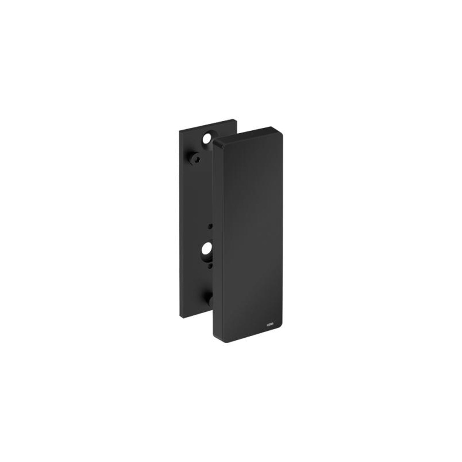 Freestyle Removable Hinged Grab Rail Mounting Plate and Cover with a matt black finish on a white background