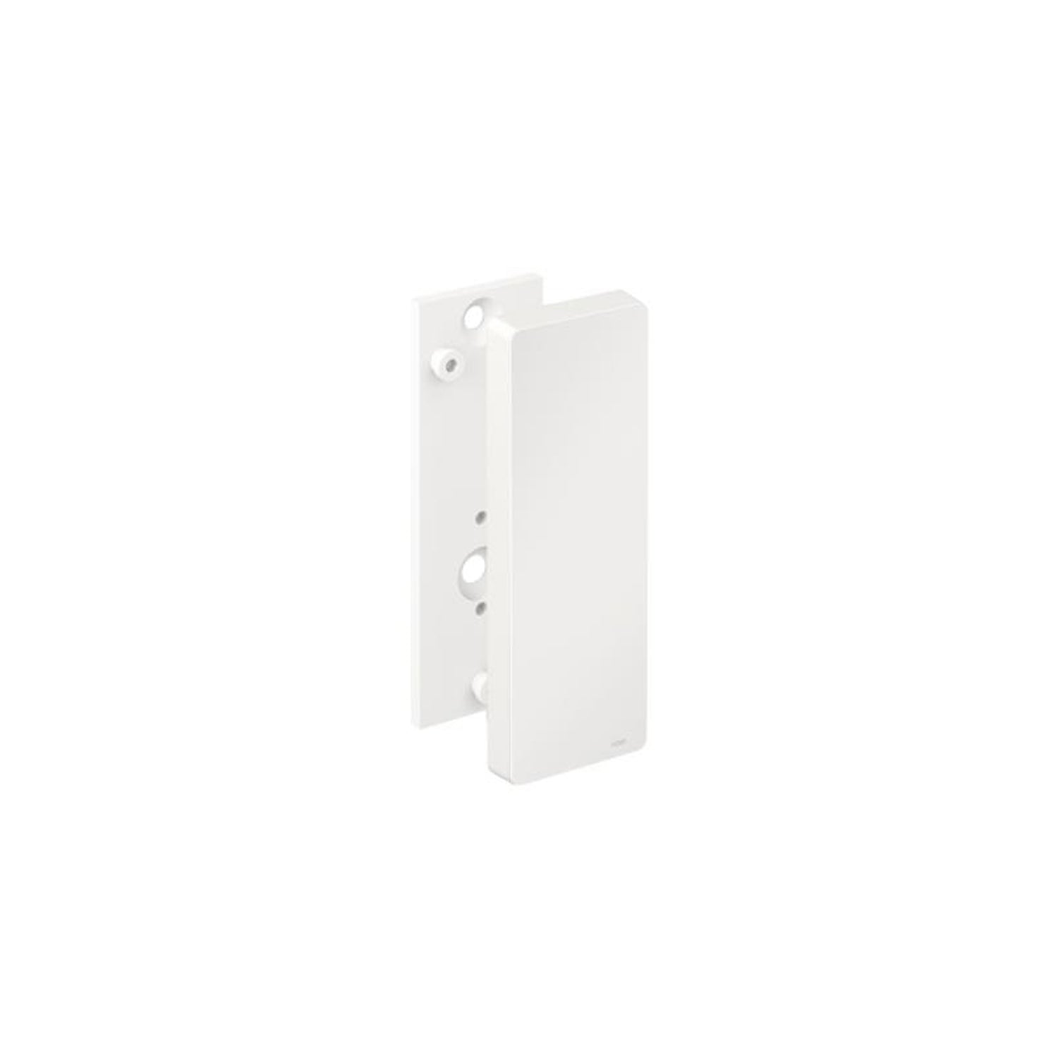 Freestyle Removable Hinged Grab Rail Mounting Plate and Cover with a white finish on a white background