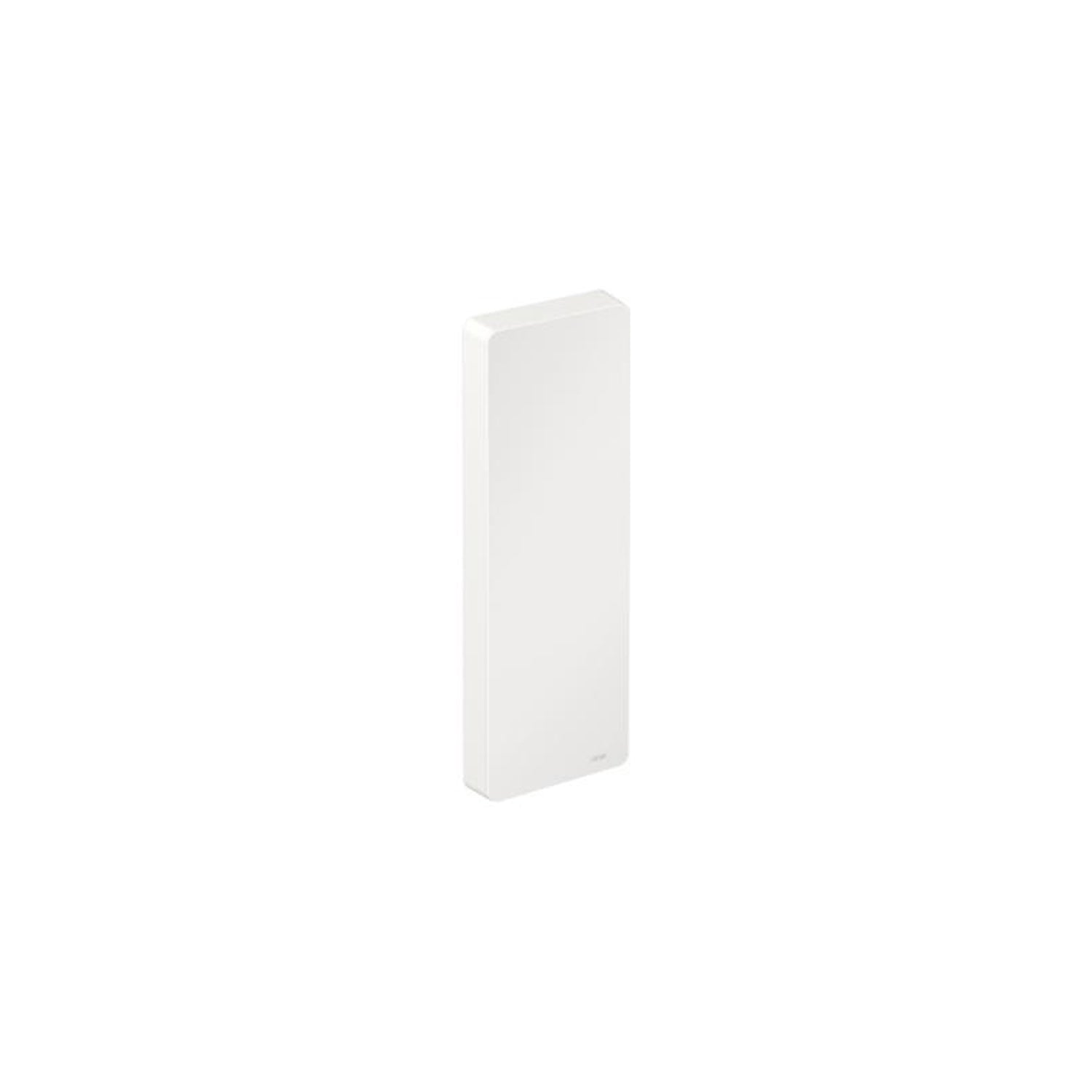 Freestyle Removable Hinged Grab Rail Cover with a white finish on a white background