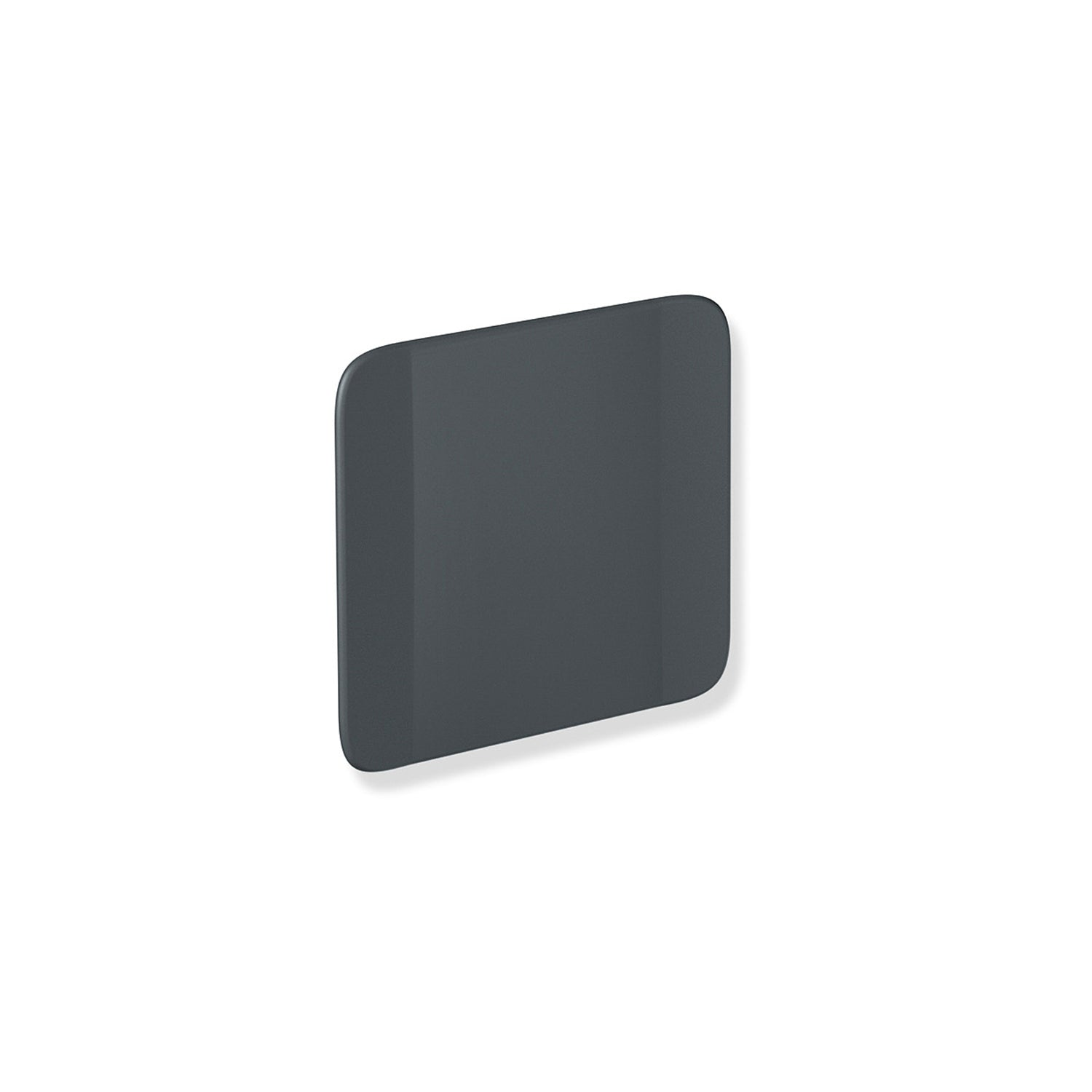 Backrest with Wall Bracket with a matt black finish on a white background