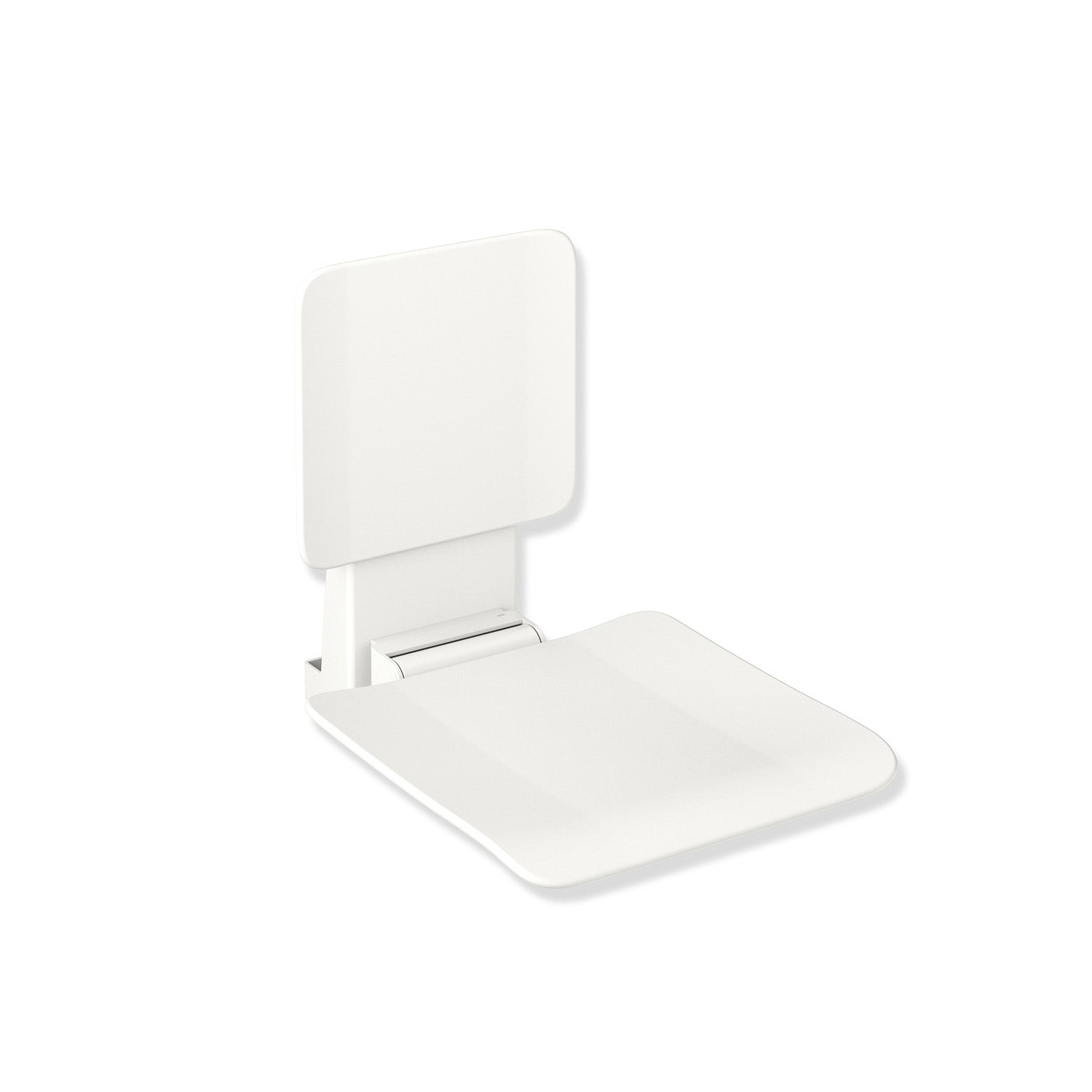 650mm Freestyle Hanging Seat with a backrest and a white finish on a white background
