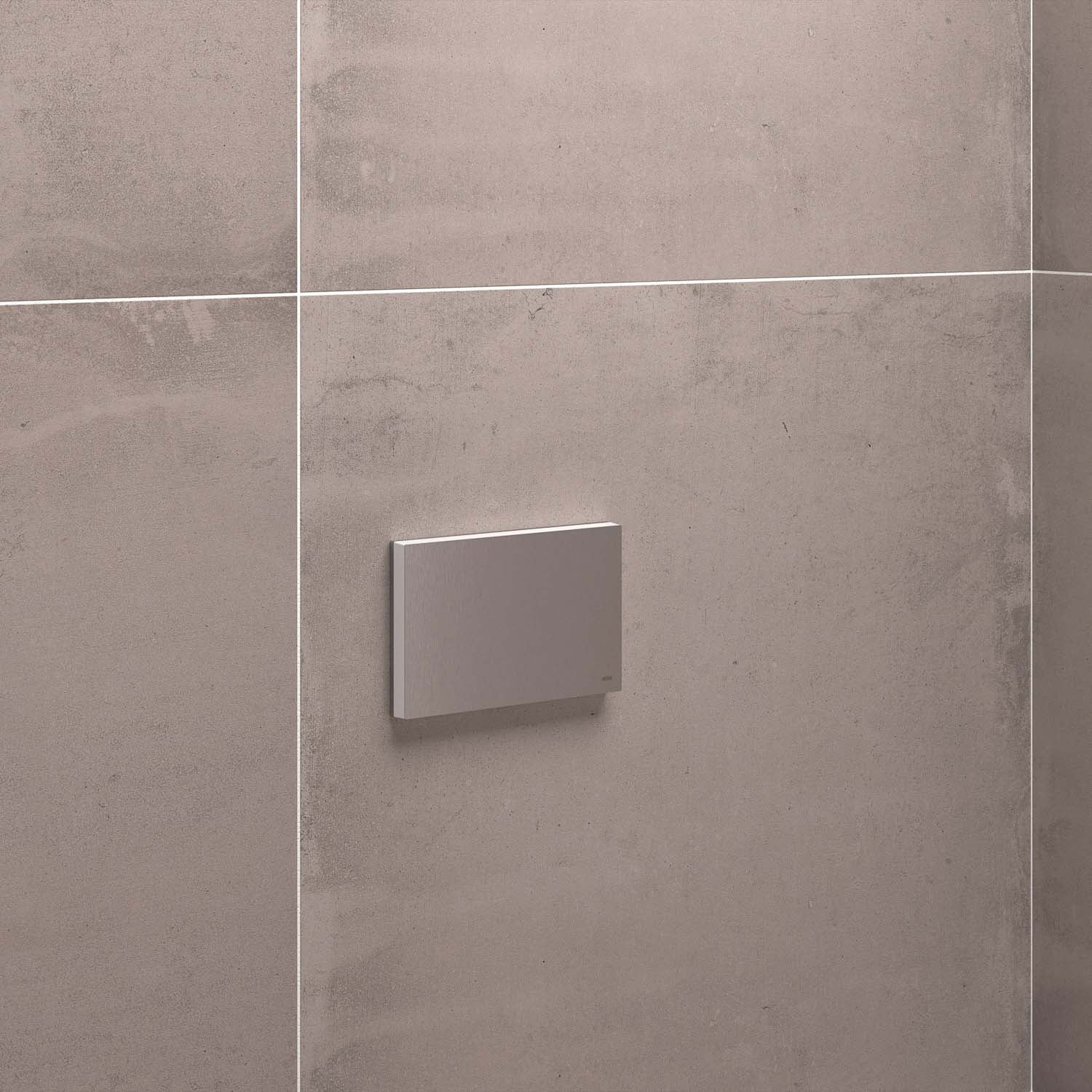 Freestyle Removable Shower Seat Mounting Plate and Cover with a satin steel finish lifestyle image