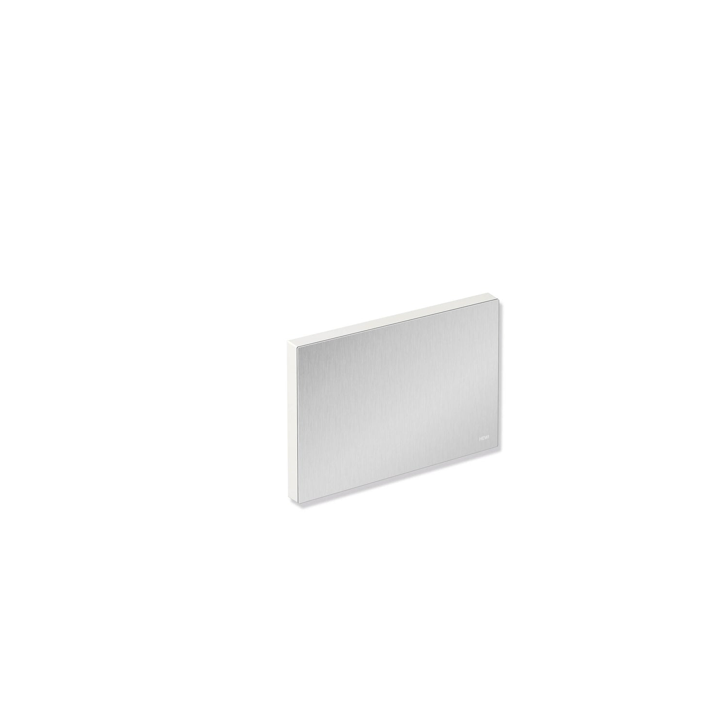 Freestyle Removable Shower Seat Cover with a satin steel finish on a white background