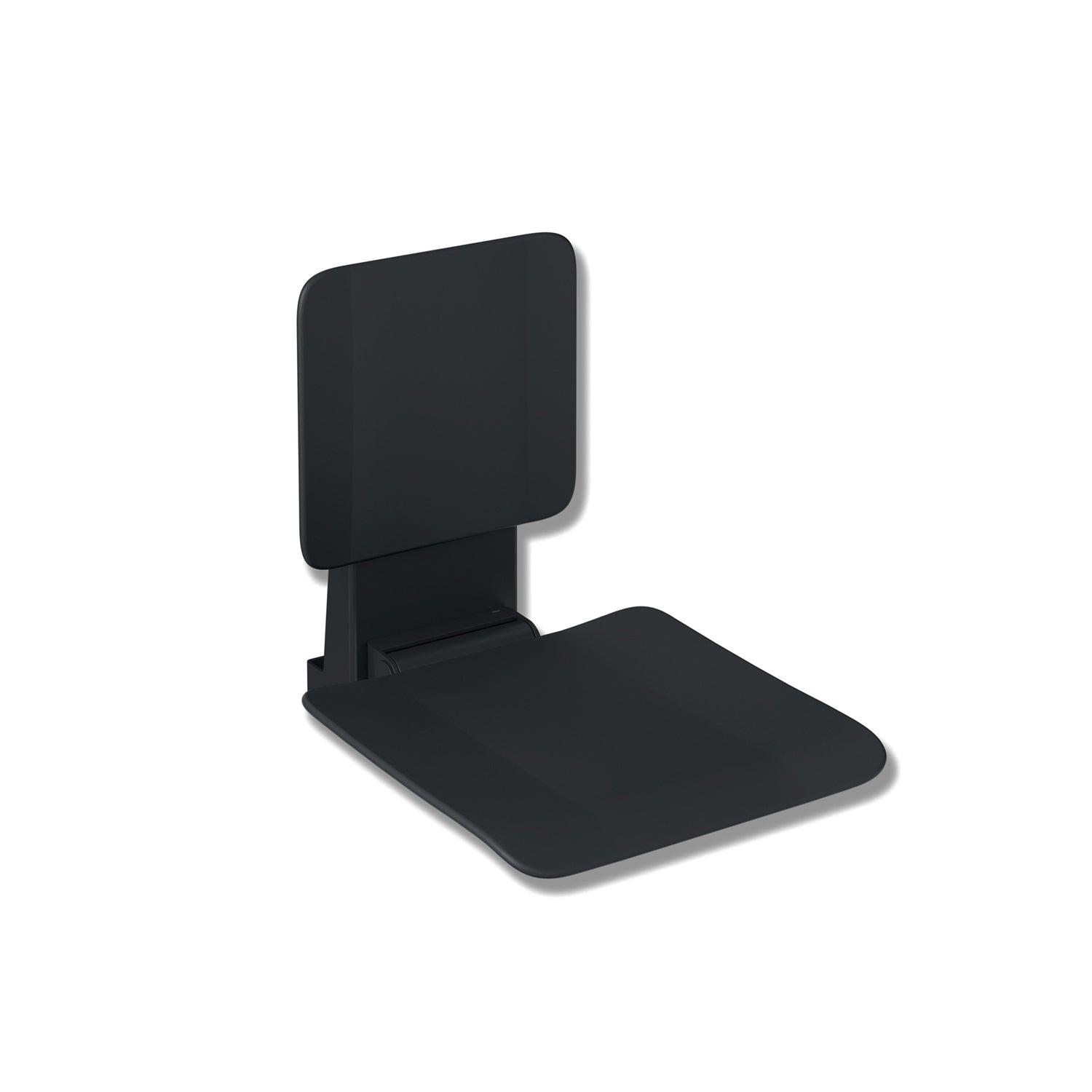 650mm Freestyle Hanging Seat with a backrest and a black finish on a white background