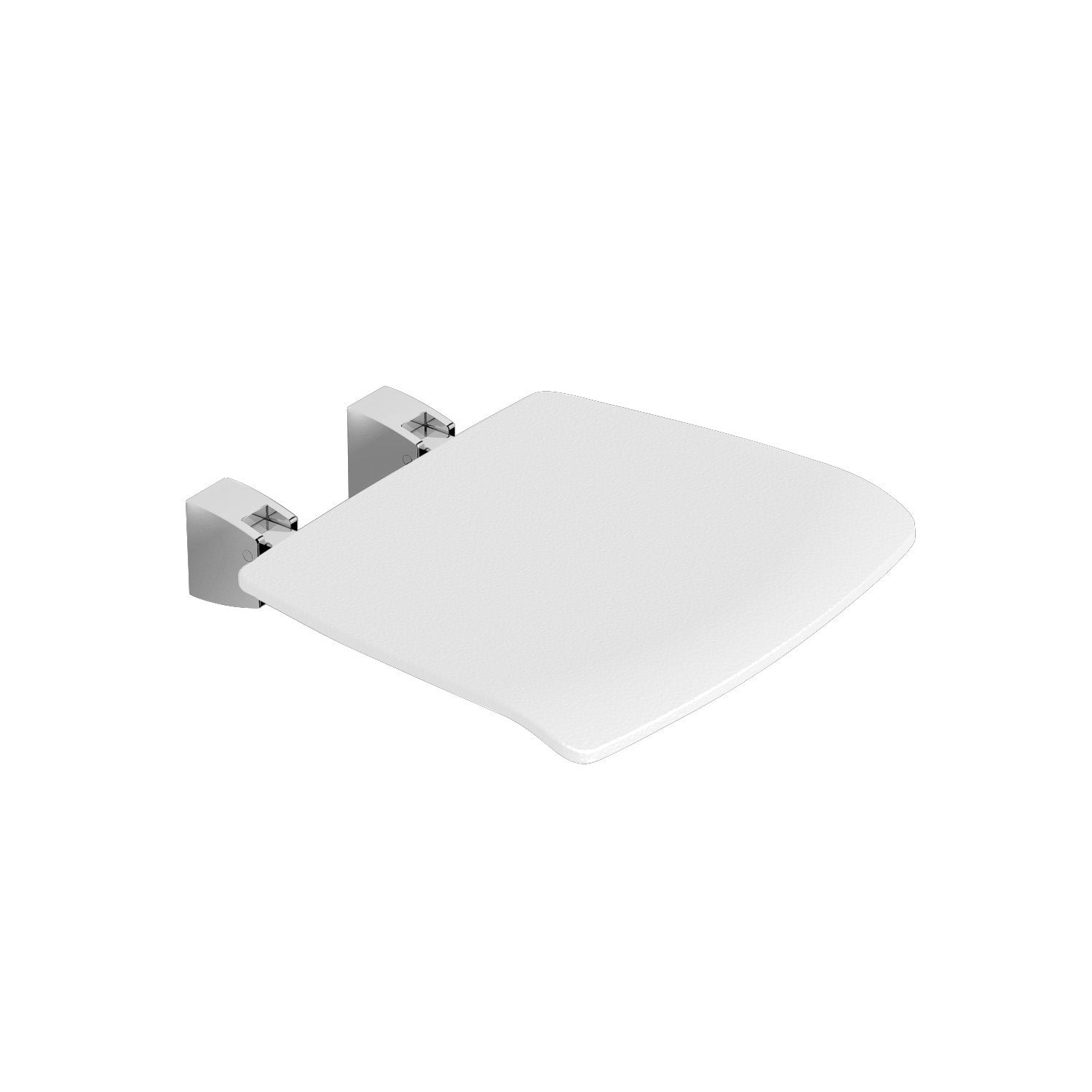 Fixed Shower Seat with a white seat on a white background
