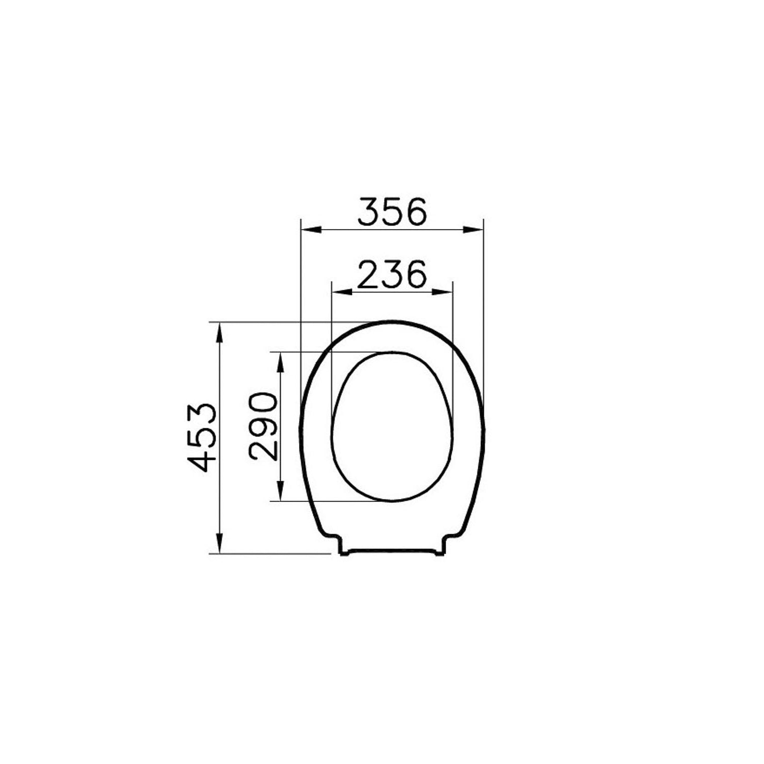 Consilio Toilet Seat Ring dimensional drawing