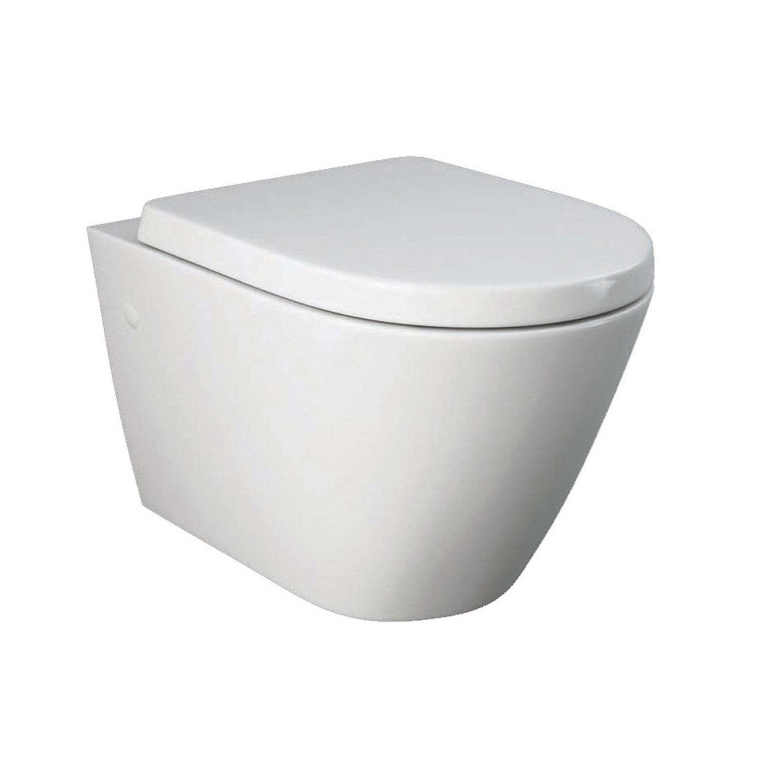 520mm Vesta Wall Hung Toilet with a seat and cover on a white background
